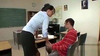 Horny teacher love sex