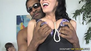 Busty mom alia janine fucks bbc in front of her son