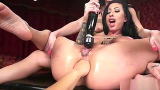 Monster strap on dick anal lesbians