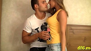 Steaming teen defloration porn with a young playgirl