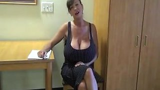 Big fake tits mature