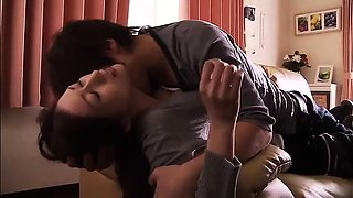 Stacked Asian housewife spreads her legs for a hard dick