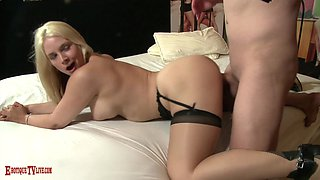 Busty blonde Sarah Vandella gets penetrated by a big cock