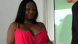 Mr. Pete fucks ebony Babysitter Jada Fire hard