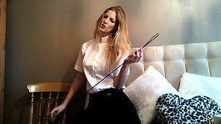Posh Dressage Riding Mistress will punish you hard