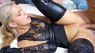Crazy Creampie, Latex sex video