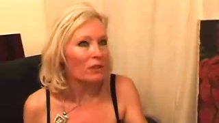 Casting French Blonde Mature Housewife