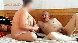 Chinese grandpa fucking hard