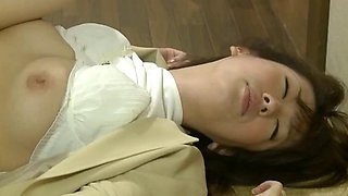 Drunk office lady fucked by chef in restaurant