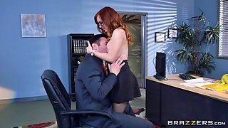 Fake tits slut Dani Jensen fucked in the office