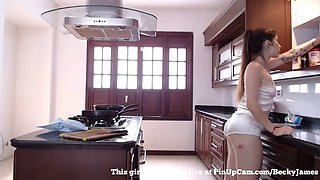 Join This Beautiful Piece Of Ass In Her Kitchen....