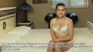 Pretty brunette from Russia prepares to lose her long-kept virginity