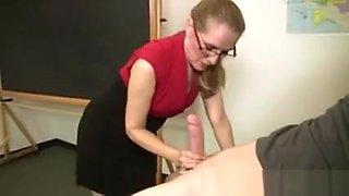 Mature teacher sucks students hard cock
