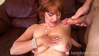 Big Breasted Housewife Getting Warm Cum