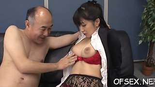 sexy babe dominates colleague asian film 1