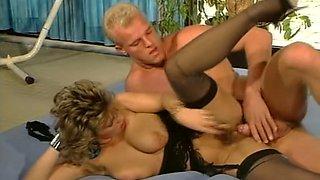Insatiable white blonde milf having passionate sex