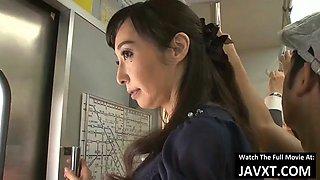 Hot japanese milf fucked on the public bus