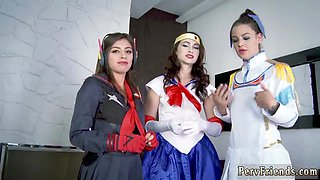 Party bus first time Cosplay Queens