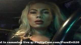 Milf driving around in her car