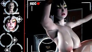 Busty 3D animation humiliated and hard fucked