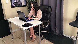 Secretary footjob compromise