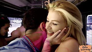 Arya Fae gets fuck inside a party bus