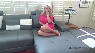 Busty blonde MILF in POV