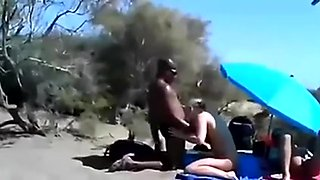 Cuckold Wife At A Beach With Many Onlookers