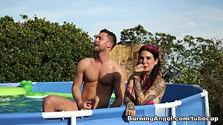 Exotic pornstars Seth Gamble, Joanna Angel, Bill Bailey in Fabulous Big Tits, Threesomes sex clip