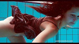 Shaved cutie Nata Szilva is a hot mermaid