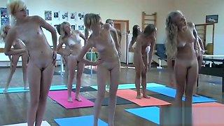 Russian/Ukraine girls nude exercise