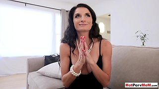 My frustrated busty MILF stepmother loves taboo sex