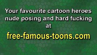 Famous cartoon heroes blowjob orgies