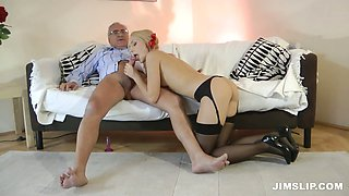 Naughty girl Nataly Von loves her ass is abused