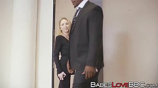 seductive angel smalls has fun with a hung stallion