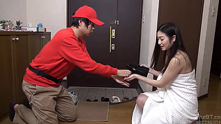Temptation Of A Half Naked Japanese Housewife