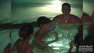 Late Night Hotel Swimming Pool Skinny Dipping Girls Miami Florida - SouthBeachCoeds
