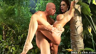 Naughty Channer Preston Goes Crazy in the Jungle