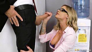 big boobed secretary jessa rhodes deepthroats ceo's schlong