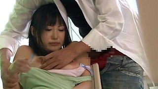 Petite Brunette Japanese Slut Fucked By Her Doc