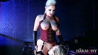 This curvy mistress is aroused by sexual power and she looks so hot