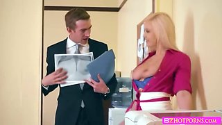 hot sexy busty babe Kylie pounded by his hunk boss