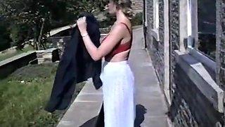 LAVENDER - vintage British huge tits striptease