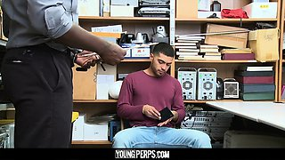 YoungPerps - Hot Black Security Officer Pounds A Virgin Boy
