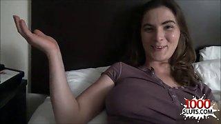 Brunette sister pov with cumshot