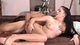 Daddy boss's daughter wrestling and old russian Vacation