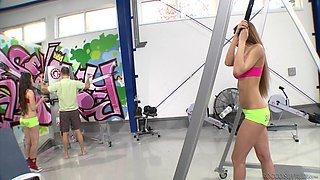 One long cock is enough to please Kitana Lure and her friend