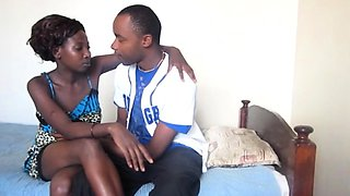 Real African Teen Girlfriend Hungry for Boyfriend's BBC