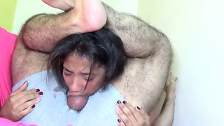 Cute Braceface Teen Slut Extreme Sloppy Throat Gagging