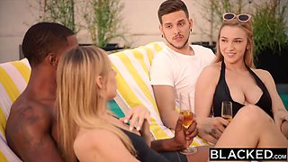 Kendra Sunderland seduced by Jillian Janson and her BBC boyfriend